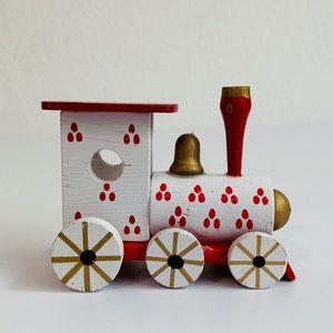 Vintage Wood Train Miniature